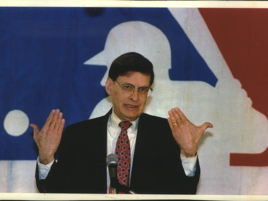 Milwaukee Brewers president Bud Selig discusses proposed baseball changes in 1983.