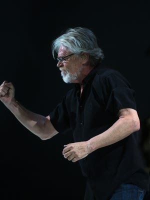 Bob Seger performs for the crowd during his concert at The Palace of Auburn Hills on Thursday, March 26, 2015.