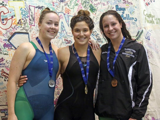 From left, Mamaroneck's Kim Jogis, 2nd place, Ursuline's