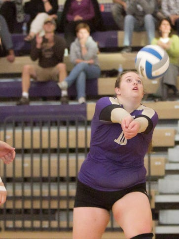 Emily Hamann of Fowlerville had nine points, seven kills and two aces as the Fowlerville volleyball team swept Portland on the road on Wednesday night.