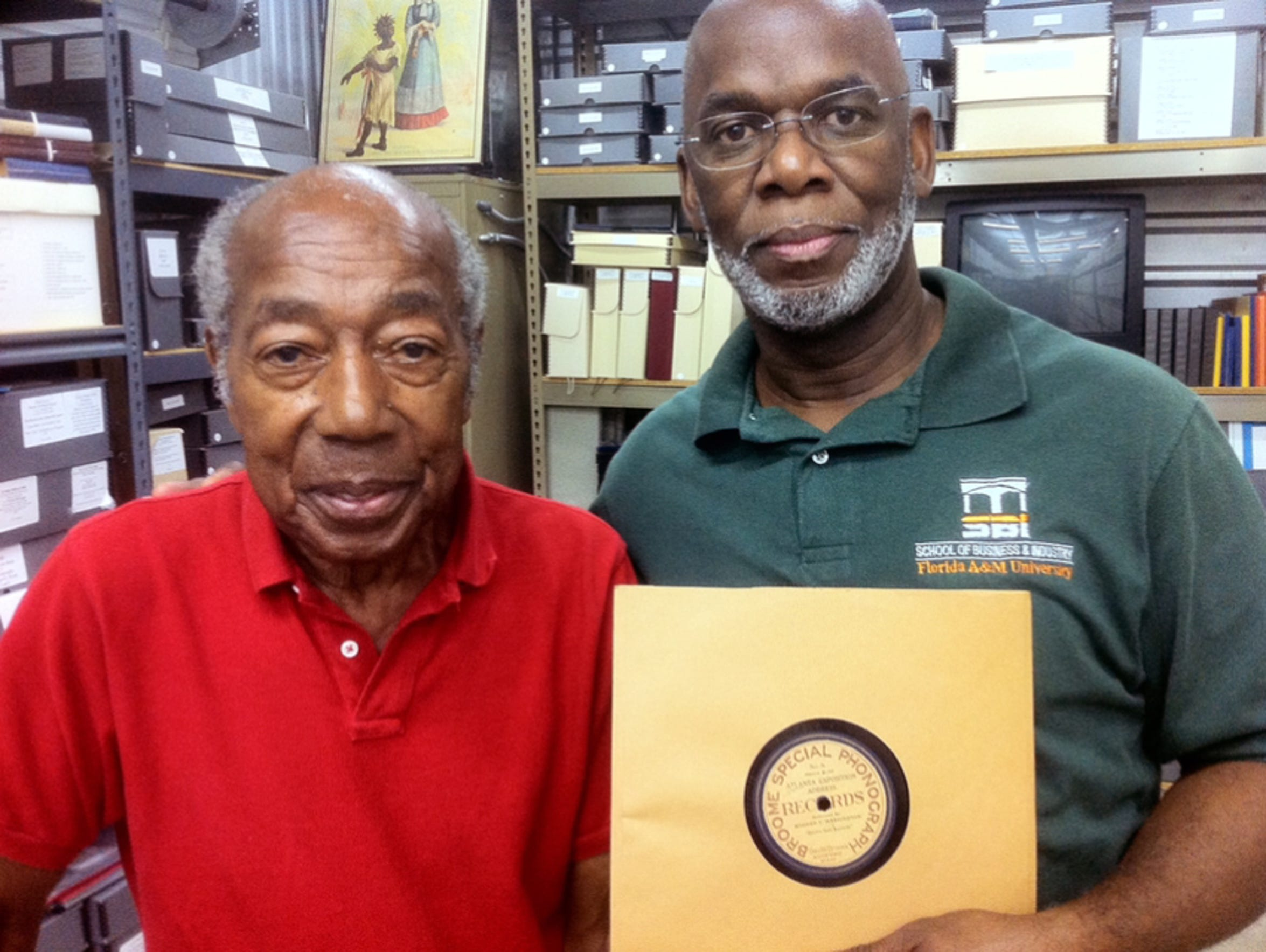 Clinton Byrd poses with Nathaniel 'Magnificent' Montague