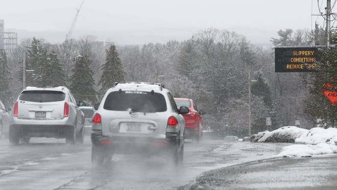 Cars travel north on Route 9 in the Town of Poughkeepsie on Tuesday, March 13, 2018.