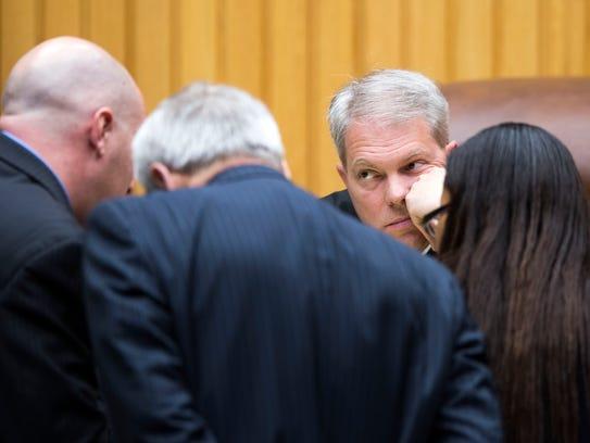 Knox County Criminal Court Judge Steve Sword listens
