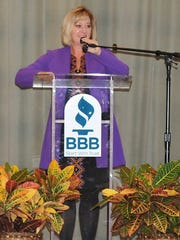 Monica Horton, president of the Better Business Bureau Serving North Central Texas' Wichita Falls office. The area BBB is choosing top winners of a student-produced video contest highlighting scams and the importance of the BBB.