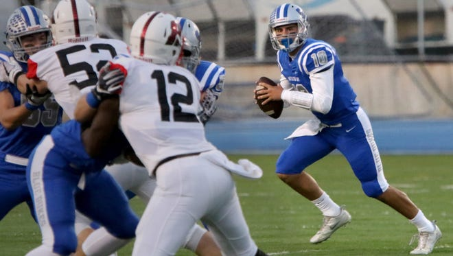 Whitefish Bay quarterback Cade Garcia passed for 277 yards and two touchdowns to lead the Blue Dukes to a 26-0 victory over Homestead on Thursday.