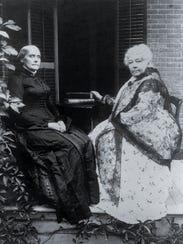 Susan B. Anthony, left, and Elizabeth Cady Stanton