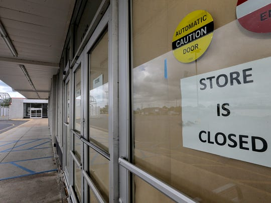 The former Kmart building in Murfreesboro is locked