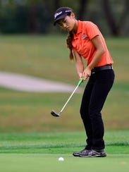 Julianne Lee of Central York sits in a tie for third
