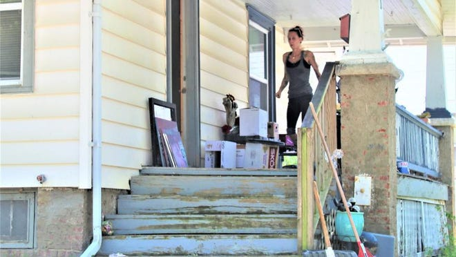Sheena Mooney moves out earlier this year after being evicted from her Topeka rental home during the novel coronavirus pandemic. For renters like Mooney, the Kansas Eviction Prevention Program, which was announced Thursday, could provide some relief.