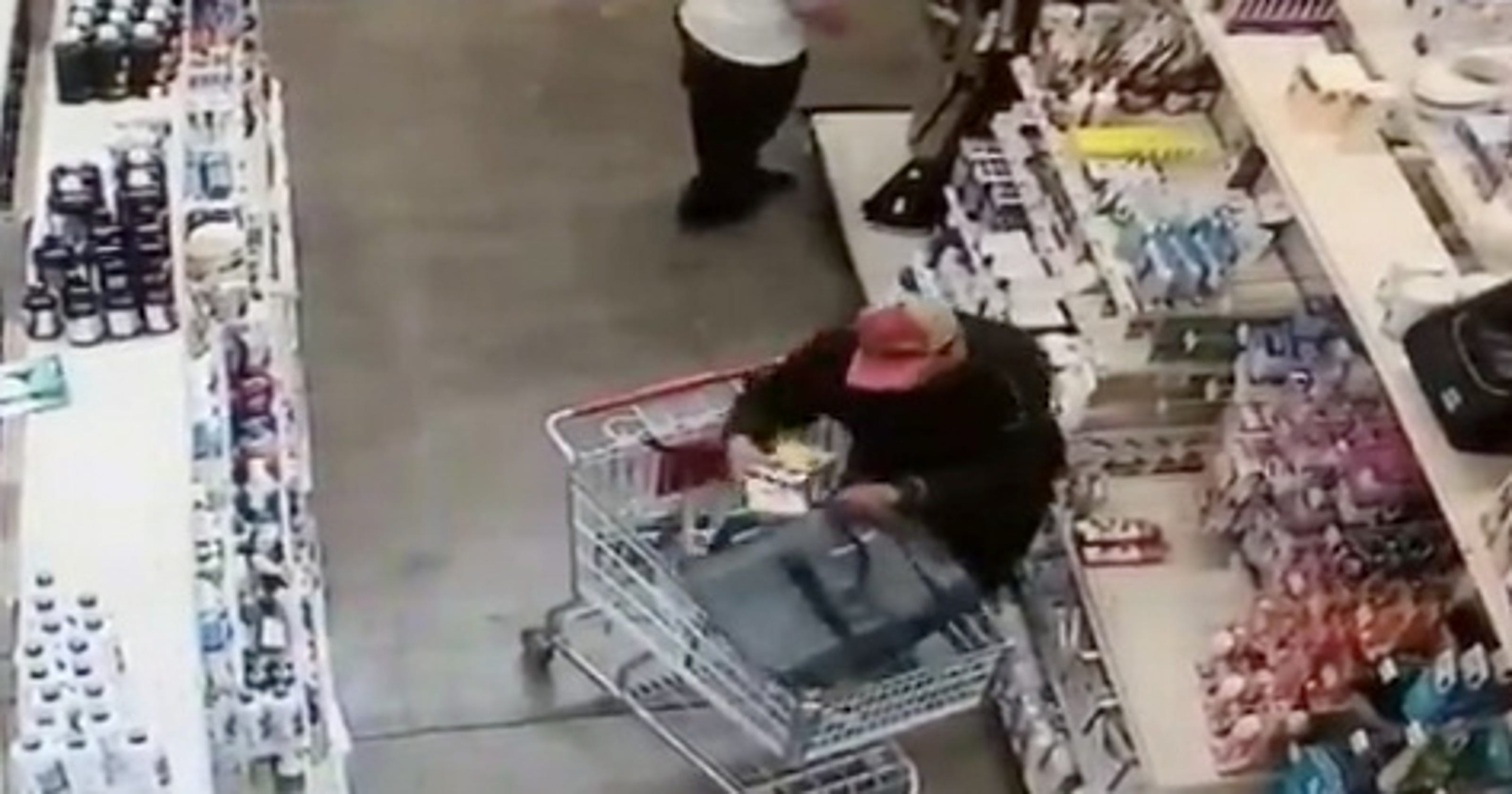 Shoplifting caught on camera in Simi Valley