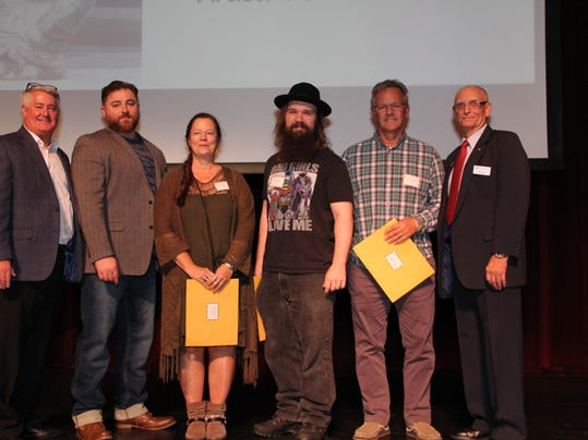 Top 3 winners with Pat Williams, Jean-Paul Aboudib, Bill Tesen