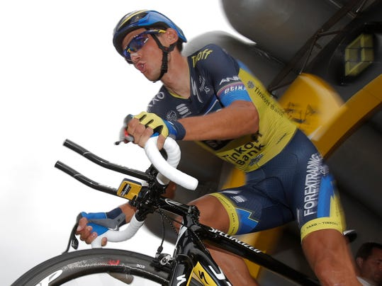 "FILE - This is a  Wednesday July 17, 2013  file photo of Roman Kreuziger of the Czech Republic as he takes the start of the seventeenth stage of the Tour de France cycling race an individual time trial over 32 kilometers (20 miles) with start in Embrun and finish in Chorges, France. It was reported  Tuesday Aug. 5, 2014 that Kreuziger said the UCI broke its anti-doping rules by provisionally suspending him without a positive test. In a statement on his website, Kreuziger said he and his lawyers ""strongly oppose the UCI decision, which has no basis in the UCI legislation."" (AP Photo/Christophe Ena, File)"