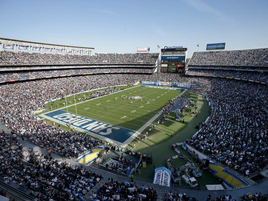 Task Force Members Holding Line In Chargers Stadium Tussle