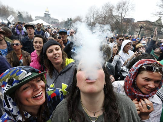 AP DENVER MARIJUANA CELEBRATION A USA CO