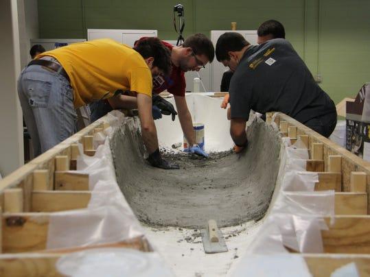 how to build a concrete canoe