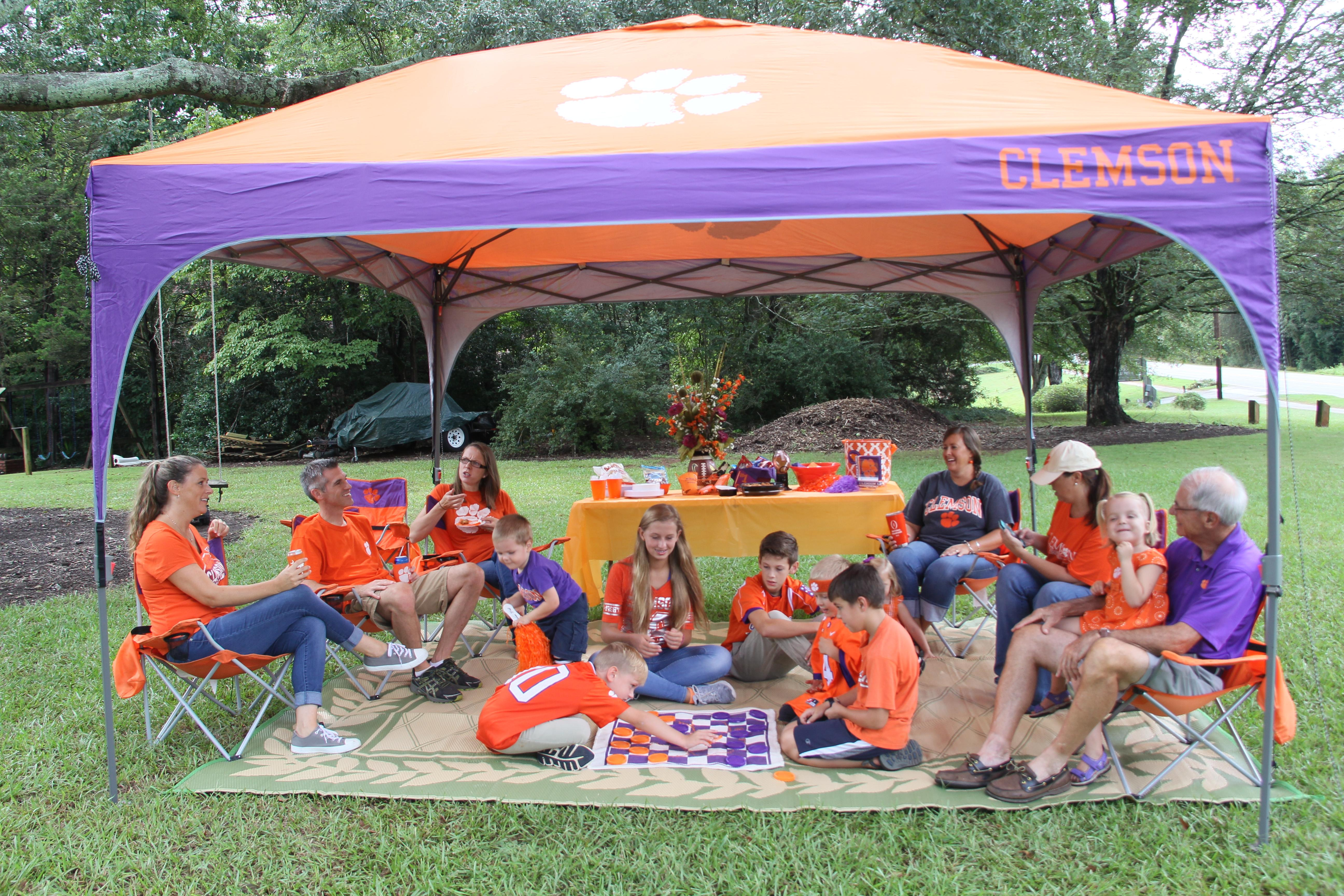 Clemson fans Laura King Aaron King Mariah Magagnotti Jessica Geldard Erica Walters and u201cGrandpau201d Jim Juras gather with their children Seth King ... & How to have fun tailgating with your kids