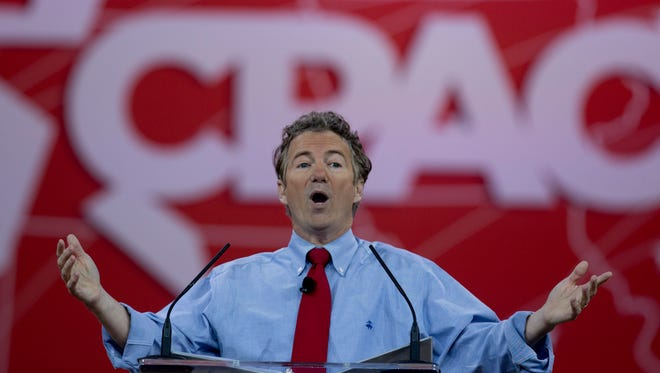 Sen. Rand Paul, R-Ky., speaks during the Conservative Political Action Conference in February.