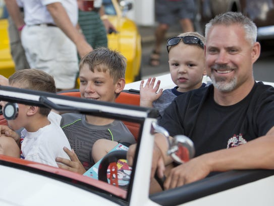 Darrin Windell and family cruise during the Hot August
