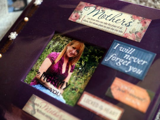 Ashley McMackin made a scrapbook to memorialize her mother.