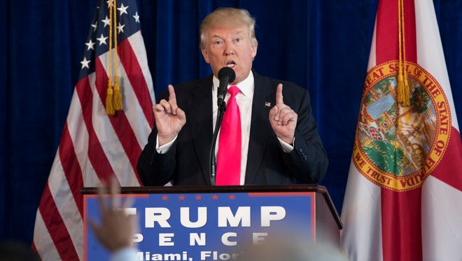 President-elect Donald Trump at his last news conference on July 27, 2016.