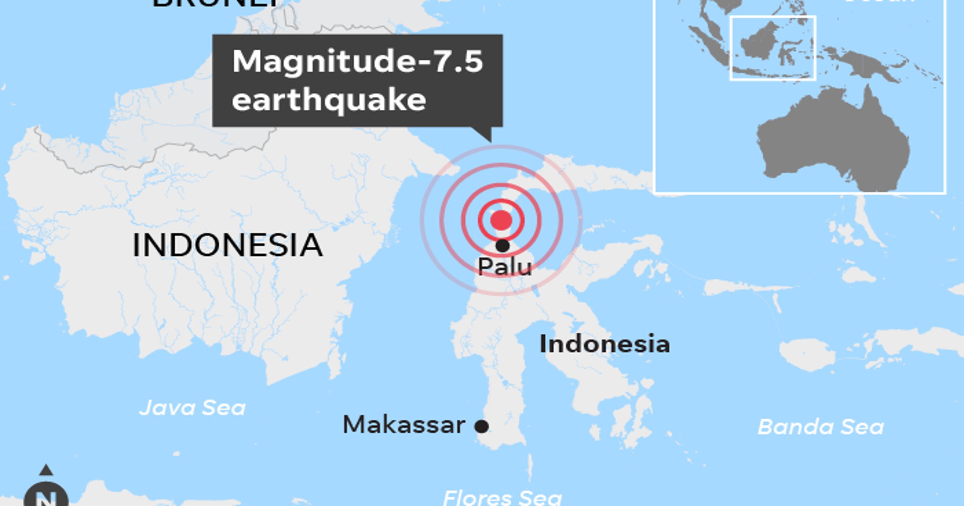 Indonesian quake and tsunami devastates coast