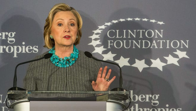 Hillary Clinton announces in December a Clinton Foundation partnership with former New York mayor Mike Bloomberg and the United Nations to help women and girls worldwide.