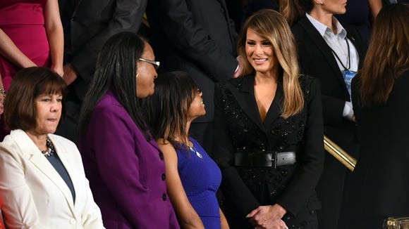 First Lady Melania Trump arrives at Congress.