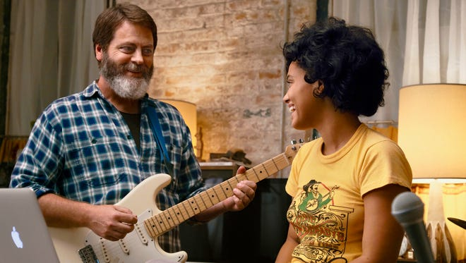 """Nick Offerman and Kiersey Clemons star as a father and daughter who form an unexpectedly popular musical act in """"Hearts Beat Loud."""""""