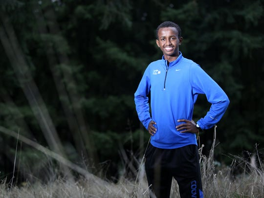 West Salem sophomore Ahmed Muhumed is the Statesman Journal All-Mid-Valley boys cross country athlete of the year. Photo taken on Friday, Dec. 5, 2014 in Salem, Ore.