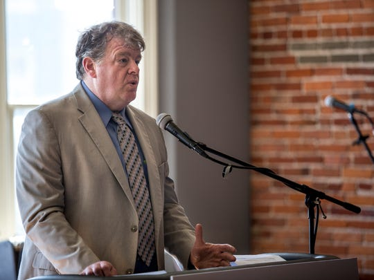 Jonathan Witz, of Jonathan Witz and Associates, talks about  his plans as the producer of Blue Water Fest during a press conference Friday, Feb. 26, 2016 at Tio Gordo's Cocina in downtown Port Huron. Blue Water Fest will run July 14-16, and be sponsored by Soaring Eagle Casino and Resort.