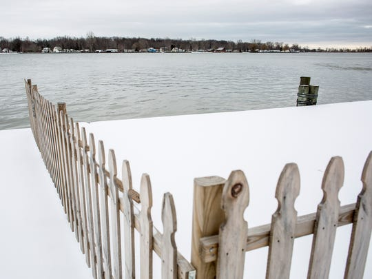 Algonac voters will be asked March 8 to approve a ballot proposal that would lease this section of seawall to the U.S. Coast Guard for 20 years. If passed, the U.S. Coast Guard would repair the seawall and boardwalk and would reopen the area to the public by the end of the year.