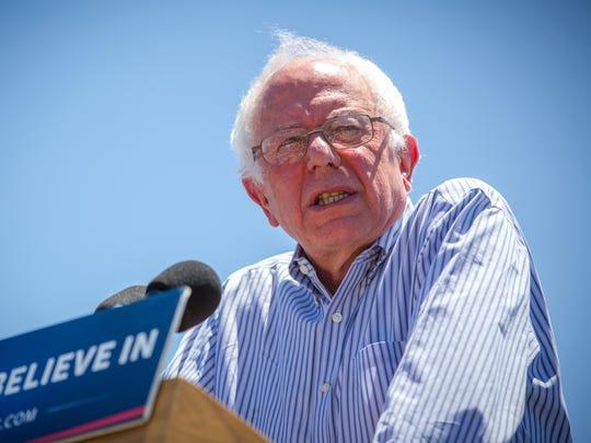 Presidential candidate Bernie Sanders spoke in May