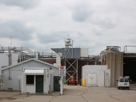 The shuttered Tyson meat processing plant sits empty