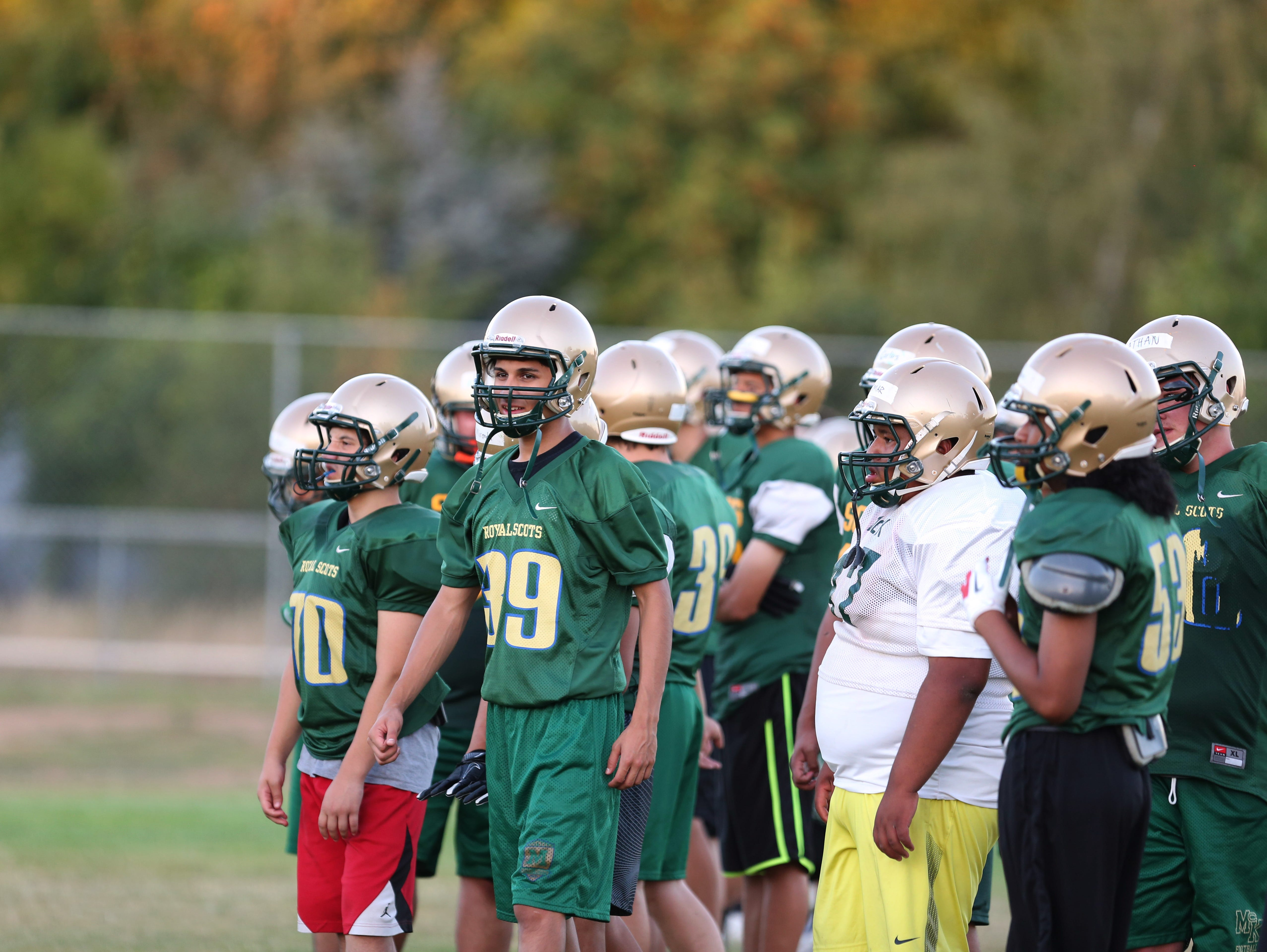 McKay players practice on Thursday, Aug. 18, 2016.