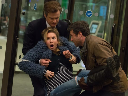 Mark Darcy (Colin Firth) and Jack Qwant (Patrick Dempsey)