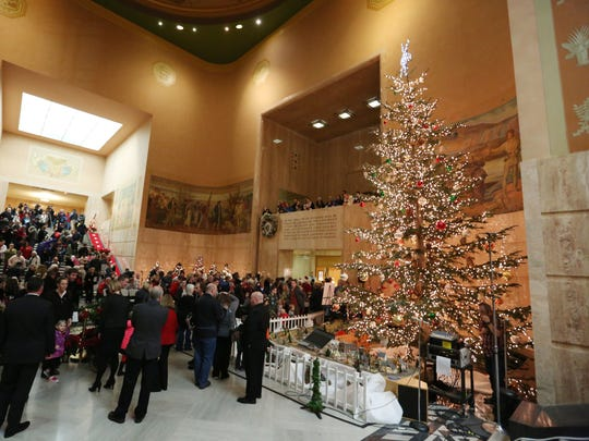This year's tree lighting at the Oregon State Capitol takes place 5:30 p.m. Nov. 29.