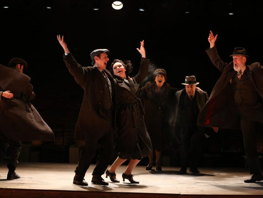 """The cast of """"Indecent,"""" which ran off-Broadway earlier"""