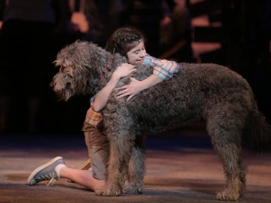 "Gabriella Pizzolo and Bowdie in a scene from ""Because of Winn-Dixie"" at the Alabama Shakespeare Festival, which opens Friday, Jan. 27, 2017."
