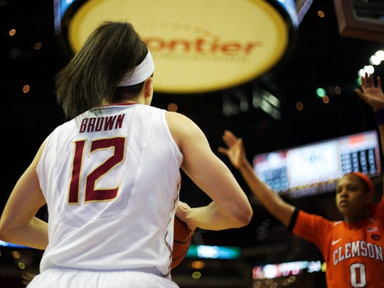 Florida State guard Brittany Brown will need to continue playing at her current level of success tonight in order for her team to advance into the Elite Eight.