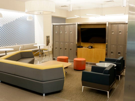 A medical student lounge area at the University of Mississippi School of Medicine's new building at UMMC Thursday, Aug. 3, 2017, in Jackson.