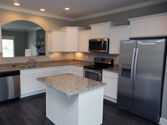 Kitchen in the model home for Ole South's new subdivision