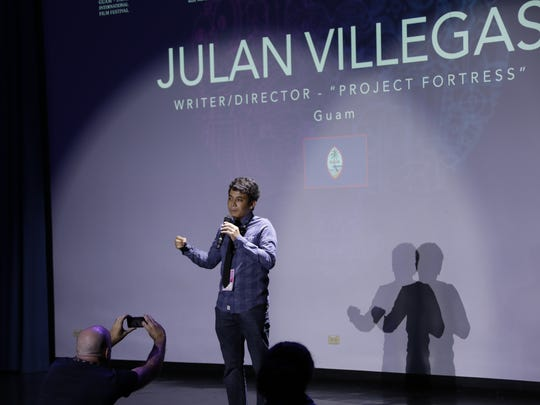"Julan Villegas at the Guam International Film Festival 2017. His entry into the festival was ""Project Fortress"", an action film he worked on independently."