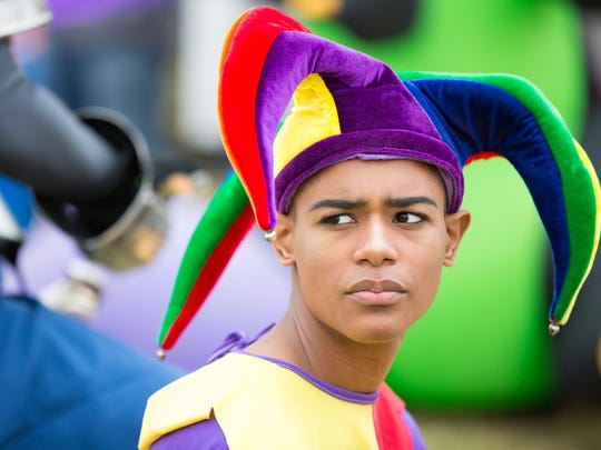Christian Geronimo, 14, of Puerto Rico, is dressed as a court jester on Saturday, November 4, 2017 at Young Park during the 46th annual Doña Ana Arts Council Renaissance ArtsFaire.