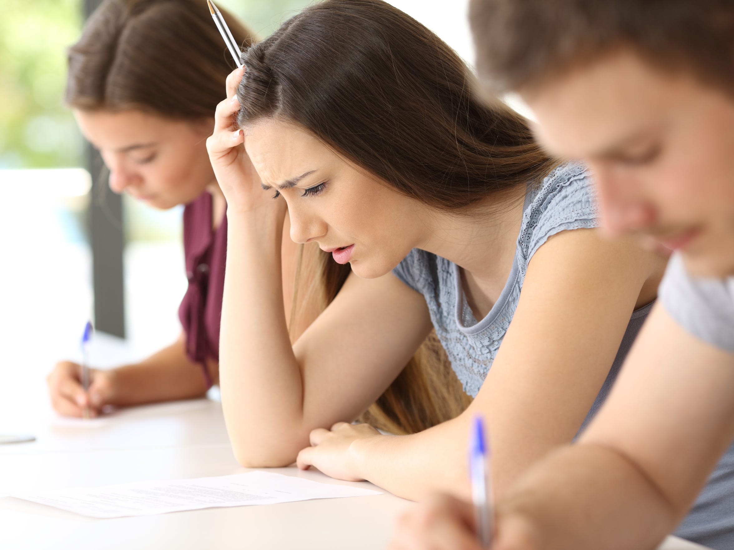 According to the American Test Anxieties Association, about 16 to 20 percent of students have high test anxiety, with another 18 percent troubled by moderately high test anxiety.