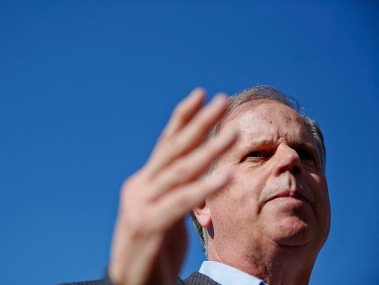 Alabama Democrat and Senate candidate Doug Jones speaks