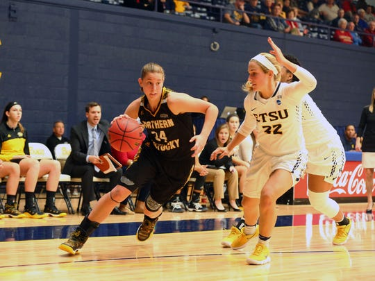 Molly Glick had 11 points in the 57-45 win over East Tennessee State University game Dec. 22, 2017.