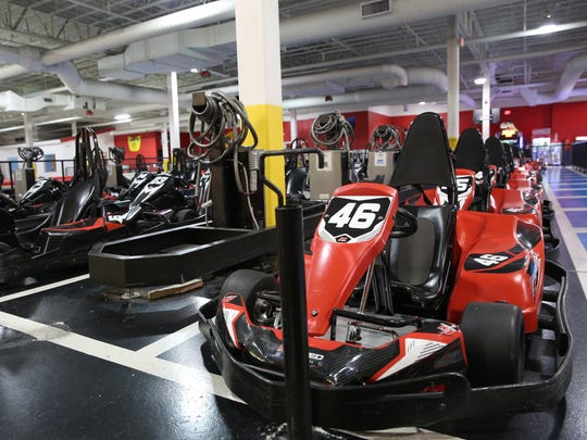 Electric go-carts at K1 Speed in Poughkeepsie on Jan.