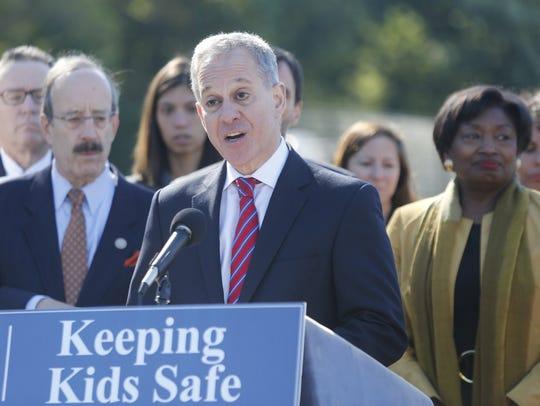 New York Attorney General Eric Schneiderman declined