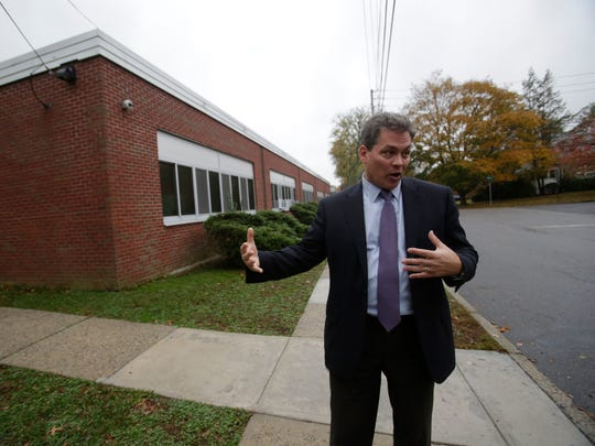 Carl Albano Carl Albano, superintendent of the Tuckahoe Union Free School District stands in front of the Tuckahoe Middle School on Nov. 6, 2017.