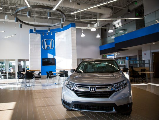 The interior of the new dealership features extra windows